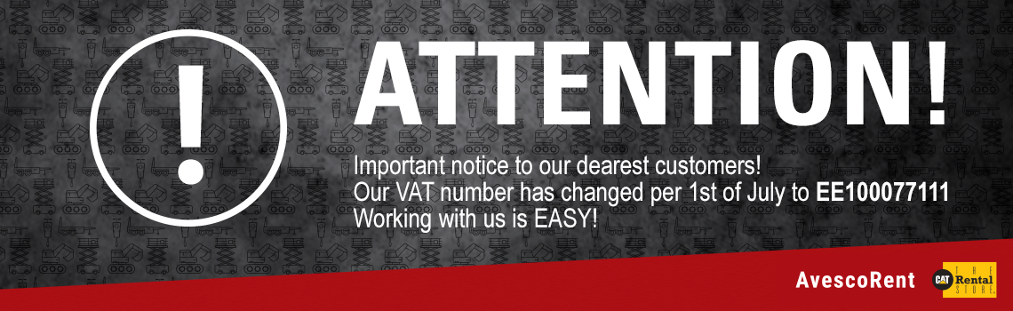 New VAT number